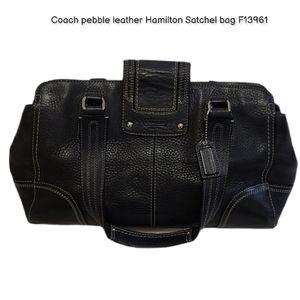 Coach pebble leather Hamilton Satchel bag F13961